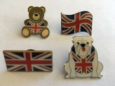 Sets Of 4 Union Jack Badges