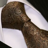 Krawatte Krawatten Schlips Binder de Luxe Tie cravate 428 braun
