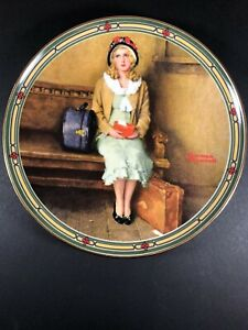 """Norman Rockwell Plate A Young Girl's Dream China 1985 Limited Knowles 8.5"""""""