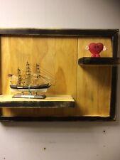 Industrial style reclaimed wood Rustic SHELF WALL Vintage antique handmade Pane