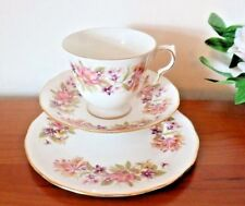 Colclough China Wayside Honeysuckle Tea Set Trio