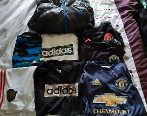 Bundle Of Boys Clothing Size 13-14 Years, 8 Items, Adidas & Manchester Utd