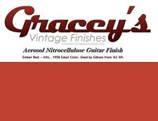 -Ember Red- Gracey's Vintage Finishes Nitrocellulose Guitar Lacquer Aerosol.