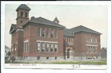 Hinckley MN Minnesota Postcard High School