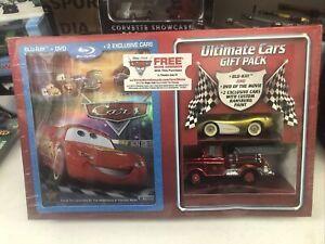 Disney Pixar CARS Ultimate Gift Pack Blu-Ray DVD 2 Exclusive Cars Custom Paint