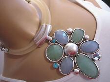 Damen Collier Hals Kette kurz Reif Modekette Bettelkette Statement Blogger BR934