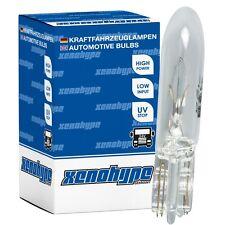 10x XENOHYPE Premium Glassockellampe T5 W2x4.6d 24V 1,2 Watt W1,2W