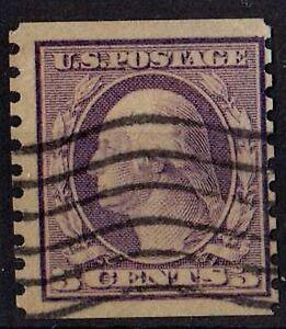 US 1916 Scott # 456 George Washington 3 C perf 10 violet STAMP