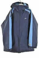 NIKE Boys Padded Jacket 15-16 Years Large Navy Blue Polyester Vintage KP77