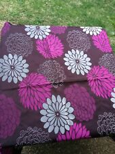Hot Pink and Chocolate Flower Furnishing Fabric 105 cm wide x 150 cm long piece