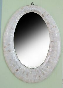 Handmade Mother of Pearl Mirror Frame Oval Design