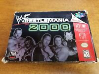 WWF WrestleMania 2000 (Nintendo 64, 1999)(Tested)