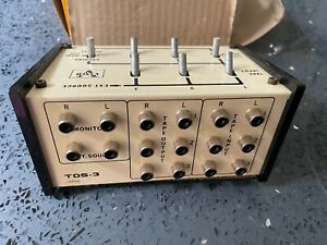 Vintage TDS-3 Vanco Multiple Deck Selector and Dubbing Switch Box Japan - In Box