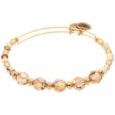 Alex and Ani Glow Swarovski Crystal Beaded Bangle Shiny Gold A17EBSW11SG