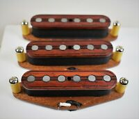 Wiggins Brand, hand wound, Strat pickup set, Padauk, Texas wound, alnico,wood
