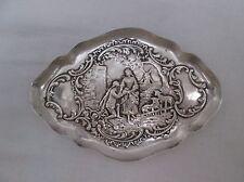 Superb Edwardian William Comyns Silver Embossed Pin Tray Dish. London 1901.