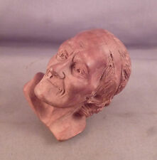 a Fine Antique Carved Wood Figural Pipe of Voltaire - French Briar Unsmoked