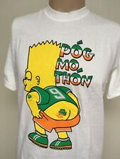 POG MO THON BART IRELAND GRAPHIC T-SHIRT Crisp SOFT & THIN White LARGE