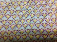 Fan Turquoise legacy studio Fabric 1 yard BTY