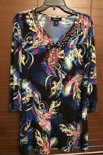 Women's Style&co Multi Color Pullover Top.  Size XL.  PRETTY!