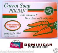 ROLDAN SOAP 3.5 OZ CARROT EXTRACT VITAMIN A EXFOLIATES AND SOFTENS ROUGH SKIN
