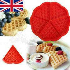 Silicone Waffle Pan Mould Red Cake Baking Chocolate Baked Waffle Maker Tray UK