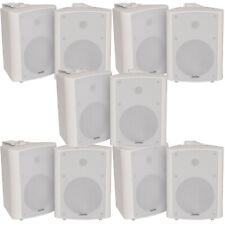 "10x 90w White Wandmontage Stereo Lautsprecher –5.25"" 8 Ohm – Qualität Home Audio Musik"
