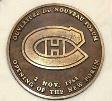 Rare Vintage 1968 Montreal Canadiens Forum Opening Day Bronze Medallion
