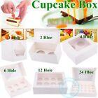 Cupcake Box Boxes 1 hole 2 hole 4 hole 6 hole 12 hole 24 hole Party Xmas Gift