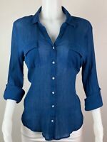 Tommy Bahama Women Size XL Button Long Sleeves Blouse Top Shirt.