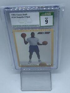 1993 Classic Draft #104 Shaquille O'Neal CSG 9 '92 Flashbacks HOF Orlando Magic
