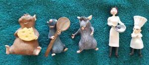Disney Pixar Ratatouille Plastic Figurine Set of 5 HTF. Out of box.