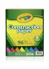 "Crayola® Construction Paper, Assorted Colors, 9"" x 12"", 96 Sheets"