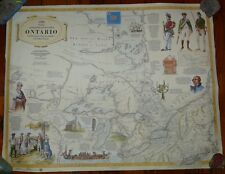 Ontario Canada Map Bicentennial History 1984 Ministry of Natural Resources