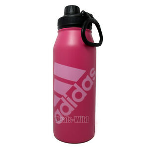 Pink Adidas Water Bottle Double Wall Stainless Steel 33.8oz 1L Quart