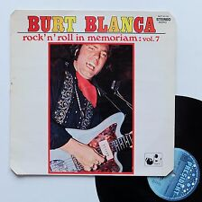 "Vinyle 33T Burt Blanca and the King Creole's   ""Rock'n'roll in memoriam - vol.7"""