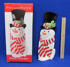 Fitz & Floyd Plate Christmas Snack Therapy Snowman Server Tray Platter Nib