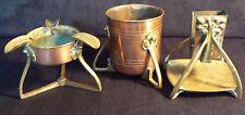 Ensemble à fumeurs cuivre laiton,art nouveau,jugendstil 1900