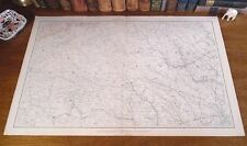 Large Original Antique Civil War Map GEORGIA & SOUTH CAROLINA Topographical