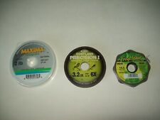 Lot of 2 tippet leader Fishing Line Maxima Cortland Precision ! + Froghair