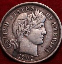 1900 Philadelphia Mint Silver Barber Dime