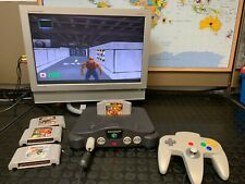 Vintage Console Nintendo 64 N64 W/Controller and 4 Games incl Duke Nuken