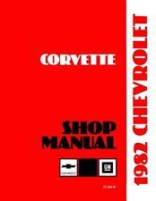 1982 Corvette Shop Service Repair Manual Book