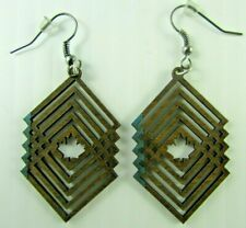 NEW Maple Leaf  wooden earrings Western red alder Made in Pacific Northwest