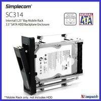 "Simplecom SC314 Internal 5.25"" Hot-Swap Bay Mobile Rack 3.5"" SATA HDD Backplane"