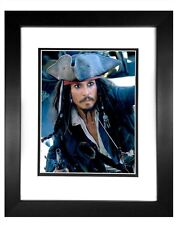 Johnny Depp as Captain Jack Sparrow in Pirates of the Caribbean #2 Framed 11x14