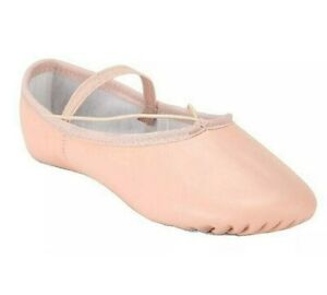 Ballet Dance Leather Shoes Full Sole Children's and Adult's Sizes Girls Dance