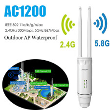 1200mbp AC1200 Outdoor Wireless Repeater WiFi Range Extender 2.4&5G High Gain AP