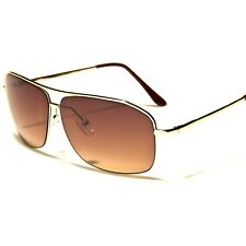 Air Force Classic Fashion Elegant Gold Mens Womens Sexy Rectangle Sunglasses