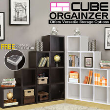 Wooden Storage Unit 1/2/3/4 Cube Strong Bookcase Shelving Home Office Display